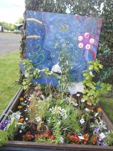 The pallet garden won a silver medal